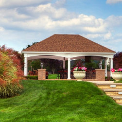 Pavilions - 20'x28' Hampton pavilion from Amish Country Gazebos. Visit our website at amishgazebos.com to learn more.