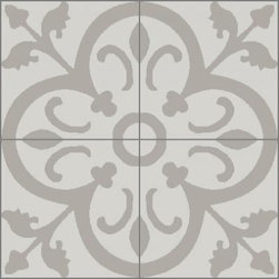 Granada Tile - Tile Sample Normandy 941 A - The Normandy cement tile design shows its French aristocratic roots while adapting itself beautifully in contemporary settings.