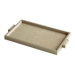 Cyan Design - Melrose Tray - Small - Small melrose tray - shagreen