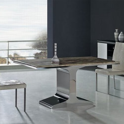 Guidonia Marble Modern Dining Table - Features:
