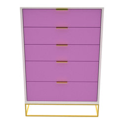 Seed Furniture - The Westside Tall Boy - Our The Westside Tall Boy is a stylish approach to housing all of women's personal items. Valuables and jewelry can be safely stored in the convenient touch-release drawer on the side.