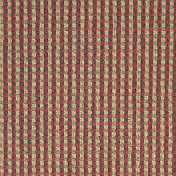Blue, Beige, Red and Green, Check Southwest Style Upholstery Fabric By The Yard - This southwest chenille upholstery fabric is great for all indoor upholstery applications. This material is uniquely soft and durable. Any piece of furniture will look great upholstered in this material!