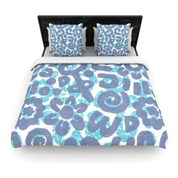 "Kess InHouse - Chickaprint ""Tribus"" Blue Navy Fleece Duvet Cover (Queen, 88"" x 88"") - You can curate your bedroom and turn your down comforter, UP! You're about to dream and WAKE in color with this uber stylish focal point of your bedroom with this duvet cover! Crafted at the click of your mouse, this duvet cover is not only personal and inspiring but super soft. Created out of microfiber material that is delectable, our duvets are ultra comfortable and beyond soft. Get up on the right side of the bed, or the left, this duvet cover will look good from every angle."