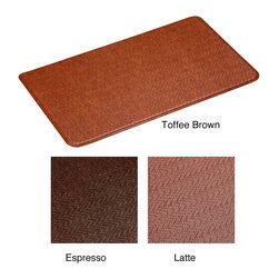 None - Cobblestone Anti-fatigue Comfort Mat (2'2 x 4') - Stand for longer periods without feeling tired or sore with this padded anti-fatigue mat. You can use the mat in bathrooms or kitchens as it's resistant to mildew,and the layers of padding keep your feet comfortable.