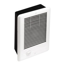 CADET - COMPAK PLUS FAN HEATER 1000W - The Com-Pak Plus is our most popular in-wall fan forced heater. This is an economical choice that includes our highly regarded safety components. These heaters are perfect for small or large areas needing the dispersed heat created by multiple heaters. | 1000 W heater at 240 V | Includes built-in thermostat | Primary thermal safeguard: robust, heavy duty high temperature manual power reset | Secondary thermal safeguard: over temperature one-time thermal device | Nichrome coil element for quick heat | White grill