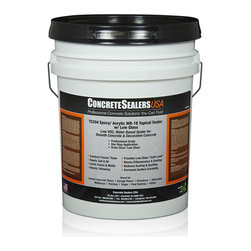 Concrete Sealers USA - TS204 Epoxy/ Acrylic WB-18 Topical Sealer w/ Low Gloss (5 gal.) - Low VOC, Water Based Sealer for Smooth Concrete & Decorative Concrete