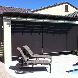 exterior motorized roller shades - roller shade for patio