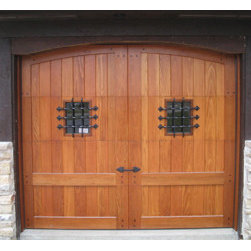 Decorative Garage Door Hardware Uses - Decorative Garage Door Window Grids in Black Iron. Includes stainless steel screws in powdered coated finish. www,gargedoorhardwaredirect.com Six custom colors.  Price for decorative hardware only, not overhead wood custom garage door.