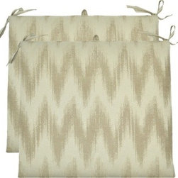 Threshold Outdoor Seat Cushion Set, Neutral Chevron - These chevron patterned seat cushions are a steal. Perfect for updating an existing deck or patio table, their neutral tone will match almost any decor.