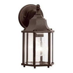 "Kichler - Kichler 9774TZ Chesapeake Collection 1 Light 10"" Outdoor Wall Light - Kichler 9774 Chesapeake Outdoor Wall Lantern"