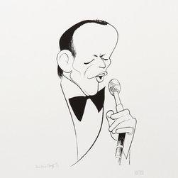 Al Hirschfeld, Frank Sinatra, Lithograph - Artist:  Al Hirschfeld, American (1903 - 2003)