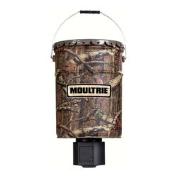 Moultrie - 6.5 Gallon Quiet Feeder - The Moultrie Quiet Feeder is a 6. 5 gallon hanging feeder that has a digital timer that can be programmed for up to four times a day.