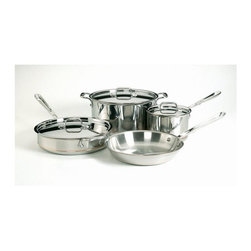 All-Clad - All-Clad Copper Core 7-Pc Cookware Set - Includes: