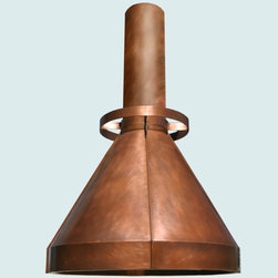 Copper Hood     Handcrafted Metal - Handcrafted Metal makes custom copper hoods in a variety of styles. We can make them to perfectly accommodate your kitchen, no matter how complicated. With us you can fully customize the size and features according to your vision, and the price will be adjusted to your specifications.