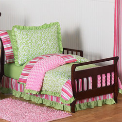 Sweet Jojo Designs - Sweet Jojo Designs Girl 5-piece Olivia Boutique Toddler Comforter Set - The Sweet Jojo Designs 5-piece olivia toddler bedding collection creates a stunning boutique setting for your little fashionista.