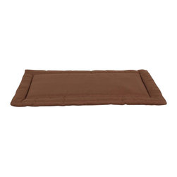Carolina Pet Company - Brutus Tuff Napper, Chocolate, 41 X 28 X 3 - Super tough for pets that are rough on their beds.  1200D Polyester fabric makes this the perfect bed for pets that like to scratch or chew.  Easy off zippered cover  for easy care.  Machine washable.  100% recycled high loft Polyester fill keeps pets off cold floors for added comfort and relief on hips, joints and pressure points.