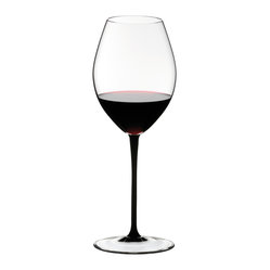 Riedel - Riedel Sommeliers  Black Tie Hermitage Wine Glasss - Nothing says luxury like lead crystal. These graceful black-stemmed wine glasses will give you cause to celebrate  every day of the week. Salut!