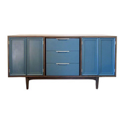 SOLD OUT! Mid-Century Modern Credenza in Blue & Gray - $1,600 Est. Retail - $750 -