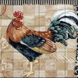 The Tile Mural Store (USA) - Tile Mural - Pb - Bergerac Rooster Iv - Kitchen Backsplash Ideas - This beautiful artwork by Paul Brent has been digitally reproduced for tiles and depicts a colorful rooster.  Rooster tile murals and decorative tiles with roosters are the perfect addition to your kitchen backsplash tile project. You can't go wrong with any of our decorative rooster tiles - each one is beautiful and will certainly add interest to your kitchen wall tile. Tile murals of roosters are timeless and will never go out of style. Add something unique to your kitchen backsplash behind your stove or sink.