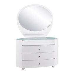 Global Furniture - Emily 3 Drawer Kids' Dresser in White - EMILY/EVELYN-WH-KIDS- - Emily Collection Kid's Dresser