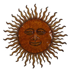 Benzara - Metal Sun Wall Decor with Sun Design - 63780 METAL SUN WALL DECOR creates a feeling of having something unique because of its unique design concept that makes it natural living style statement.