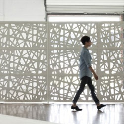 WEB Room Divider - This is our NEW product that we introduced at NeoCon, North America's largest design exposition and conference for commercial interiors, annually attended by over 40,000 architecture and design professionals. The sculptural WEB divider screen was designed to provide space division for an open space or area without blocking off natural light.