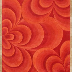 Alliyah Rugs - Alliyah Rugs Z n Z Rug Gallery 26029 (Red, Orange) 5' x 8' Rug - This Hand Crafted rug would make a great addition to any room in the house. The plush feel and durability of this rug will make it a must for your home. Free Shipping - Quick Delivery - Satisfaction Guaranteed