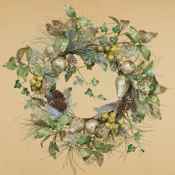 Oddity Glitter Fruit Wreath - 22 in.