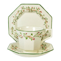 Lavish Shoestring - Consigned 6 Placements Tea Set Cups/Saucers, Johnson Brothers, Vintage English - This is a vintage one-of-a-kind item.