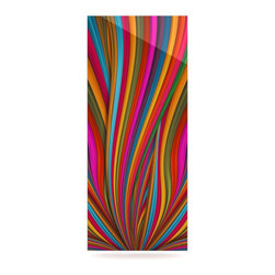 "Kess InHouse - Danny Ivan ""Believer"" Multicolor Metal Luxe Panel (9"" x 21"") - Our luxe KESS InHouse art panels are the perfect addition to your super fab living room, dining room, bedroom or bathroom. Heck, we have customers that have them in their sunrooms. These items are the art equivalent to flat screens. They offer a bright splash of color in a sleek and elegant way. They are available in square and rectangle sizes. Comes with a shadow mount for an even sleeker finish. By infusing the dyes of the artwork directly onto specially coated metal panels, the artwork is extremely durable and will showcase the exceptional detail. Use them together to make large art installations or showcase them individually. Our KESS InHouse Art Panels will jump off your walls. We can't wait to see what our interior design savvy clients will come up with next."