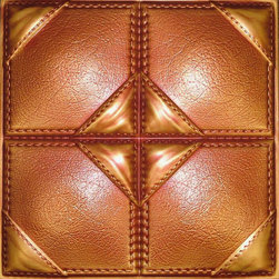Decorative Ceiling Tiles - Saddle Stitched - Faux Leather Ceiling Tile - #DCT LRT39 - Find copper, tin, aluminum and more styles of real metal ceiling tiles at affordable prices . We carry a huge selection and are always adding new style to our inventory.