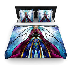"""Kess InHouse - Mandie Manzano """"The Little Sister"""" Frozen Fleece Duvet Cover (King, 104"""" x 88"""") - You can curate your bedroom and turn your down comforter, UP! You're about to dream and WAKE in color with this uber stylish focal point of your bedroom with this duvet cover! Crafted at the click of your mouse, this duvet cover is not only personal and inspiring but super soft. Created out of microfiber material that is delectable, our duvets are ultra comfortable and beyond soft. Get up on the right side of the bed, or the left, this duvet cover will look good from every angle."""