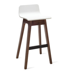 Bryght - Ava White Bar Stool - A quirky addition to the modern home, the Ava bar stools make meals fun.