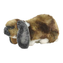 """Hansa Toys - Hansa Toys Lop Eared Rabbit - Hansa Lop Eared Rabbit 5530 is handcrafted from plush. Each animal's """"coat"""" is meticulously cut by hand, never stamped out by machine. Soft paws, swishing tails, and especially soulful eyes and faces are lovingly detailed to create the life-like look that is unmistakably Hansa. Ages 3 and up."""