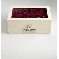 Keepsake Box of Roses - Keep your treasures in this keepsake box of roses featuring a personalization plate.