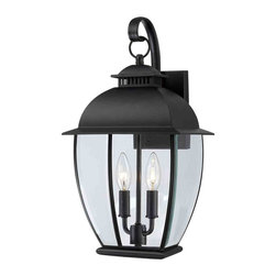 Quoizel Lighting - Quoizel BAN8409K Bain Mystic Black Outdoor Wall Sconce - 2, 60W B10 Candelabra