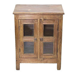Vintage Anglo-Indian Cabinet With Glass Doors - $645 on Chairish.com -