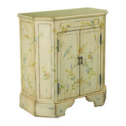 Hammary T73698-11 Hidden Treasures Two Door Accent Chest in Antiqued White