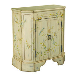 Hammary - Hammary T73698-11 Hidden Treasures Two Door Accent Chest in Antiqued White - Two door cabinet belongs to Hidden Treasures collection by Hammary the Hidden Treasures collection is a fabulous assortment of one-of-a-kind accent pieces inspired by the greatest furniture designs from around the world. Each selection is a true treasure - rich in old world icons and traditions. All the pieces in this collection are crafted with attention to every detail. From brass nailhead trim and exquisite hand-painting to elegant shaping and decorative trim, every item is a unique work of art. A wide variety of materials is used to create the perfect look and finest quality - from exotic woods, leather and stone to raffia and glass. The huge selection of finishes, hardware, exceptional carvings and other final touches offer unsurpassed versatility for any room in the home. Hidden treasures includes cocktail tables, occasional and accent pieces, trunks, chests, consoles, wine racks, desks, entertainment units and interesting storage pieces. Place one in a comfortable reading nook... In the family room for flair and variety... In the foyer for a welcome look... In a bedroom for cozy style... Or in the office for function and versatility. The pieces in this collection mix beautifully with any decorating style and will easily become the focal point in any setting.