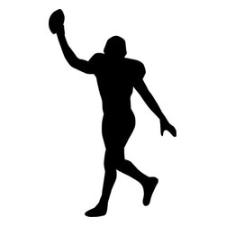 Stencil Ease - Football Player Silhouette Stencil - Football Player Silhouette Stencil - BASIC Stencils Collection