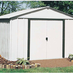 Arrow Sheds - Arrow Arlington 12 x 10  Steel Storage Shed - The Arrow Arlington 12 x 10 Steel Storage Shed is the perfect storage solution. This storage shed features an Electro Galvanized steel construction for superb corrosion resistance.