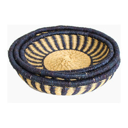 Ghana Nesting Baskets, Set of 3 - These baskets would look great on the table filled with bread, nuts or fruit. I love that they're part of a fair-trade program and are made in Ghana.