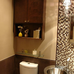 contemporary powder room by Kitchen Planners