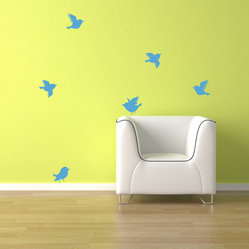 Six Singing Birdies Wall Decal