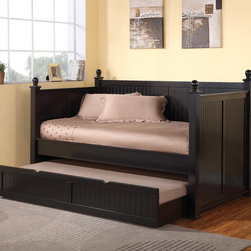 Coaster - Daybed, Rich Satin Black - Daybed, Rich Satin Black