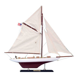 """Handcrafted Model Ships - Columbia Limited 16"""" - Wooden Sailboat Centerpiece - Not a model ship kit..."""