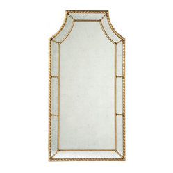 Lillian august - Staffordshire Mirror - Perhaps this mirror had another life. It certainly looks as though it has been living in some of the finer homes in Europe. The vintage gold finish and mirrored backing invite you to step in and admire your exquisite taste.