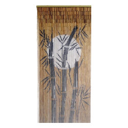 "Bamboo54 - Bamboo Moon Scene - Bamboo54 moon scene is made from authentic bamboo and hand strung. One curtain contains 90 strands across and is the perfect door hanging accessory. Hand painted on both sides. Measures approximately 36"" x 80"""