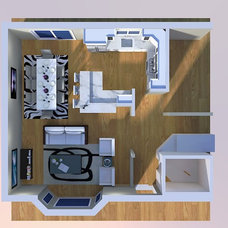 Traditional Floor Plan by Case Design/Remodeling, Inc.