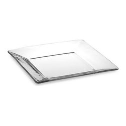 Libbey Glass - Libbey Tempo 10-Inch Square Glass Dinner Plate - Clear glass and square shapes makes this contemporary dinnerware a perfect addition to any table setting.